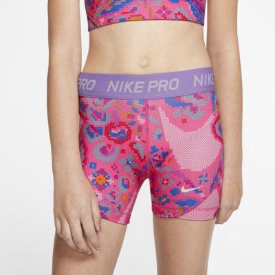 Nike Pro Older Kids' (Girls') Printed Boyshorts