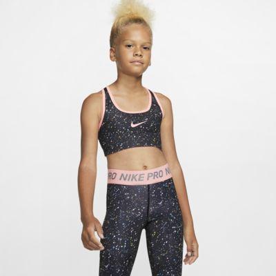 Nike Pro Big Kids' (Girls') Reversible Printed Sports Bra