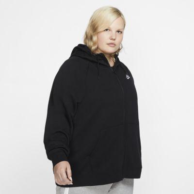 Dámská mikina Nike Essential (Plus Size) s kapucí a dlouhým zipem