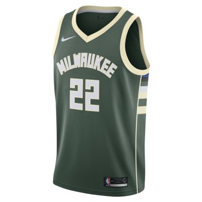 Camiseta conectada Nike NBA para hombre Khris Middleton Icon Edition Swingman (Milwaukee Bucks)