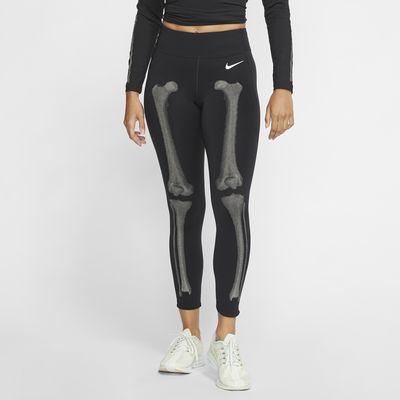 กางเกงรัดรูปลายโครงกระดูกผู้หญิง Nike