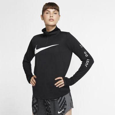 Nike løpeoverdel med glidelås i halsen til dame