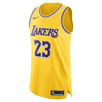 洛杉矶湖人队 (LeBron James) Icon Edition Nike NBA Authentic Jersey 男子球衣
