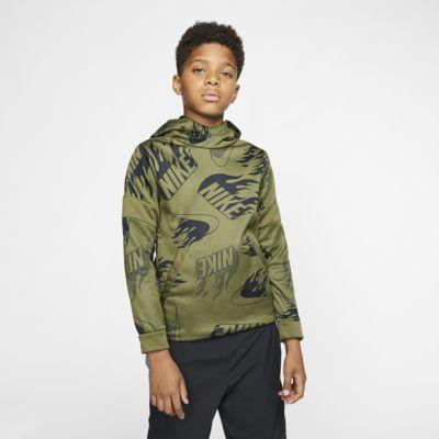 Nike Therma Big Kids' (Boys') Printed Training Pullover Hoodie