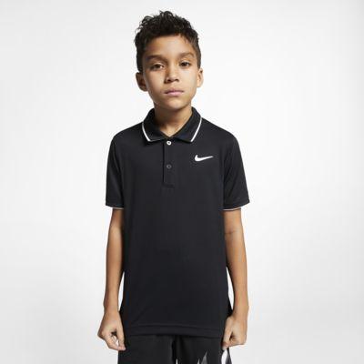 Tenisová polokošile NikeCourt Dri-FIT pro větší děti (chlapce)