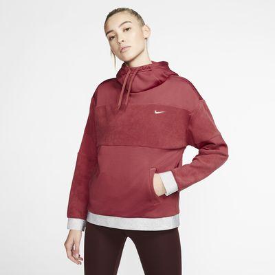 Hoodie pullover de treino em lã cardada Nike Icon Clash para mulher