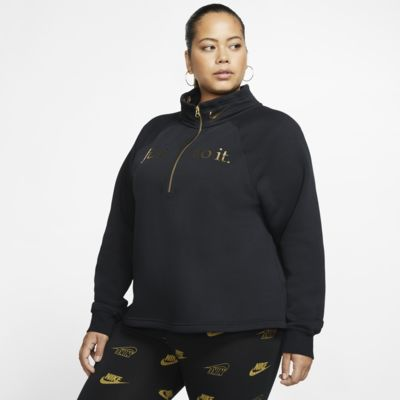 Nike Sportswear Women's 1/2-Zip Fleece Top (Plus Size)