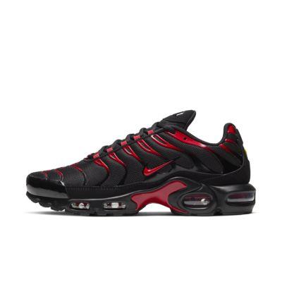 air max plus red and black