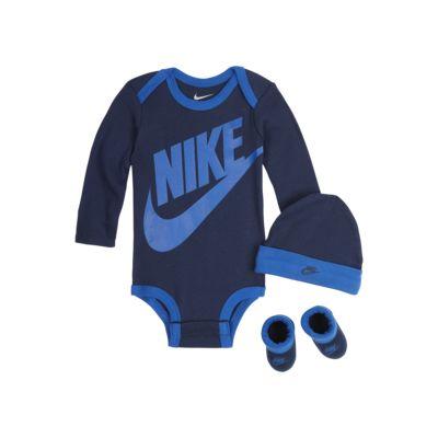 Nike Baby Bodysuit, Hat and Booties Set