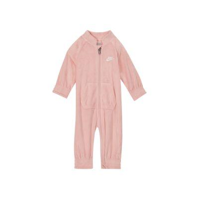 Nike Baby (0-9M) Velour Full-Zip Coverall