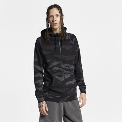 Sudadera con capucha camuflada de cierre completo para hombre Jordan Jumpman