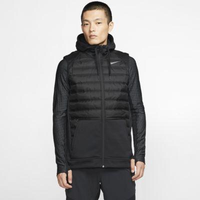 Chaleco acondicionado para el invierno con capucha de entrenamiento de cierre completo para hombre Nike Therma