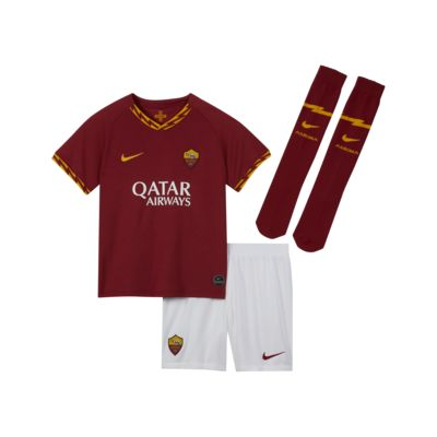 Kit de fútbol de local para niños talla pequeña del A.S. Roma 2019/20