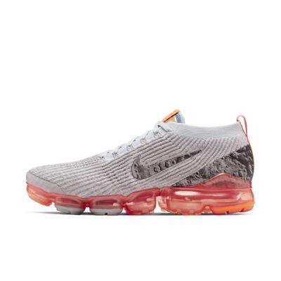 Мужские кроссовки Nike Air VaporMax Flyknit 3, Atmosphere Grey/Чистая платина/Невероятный темно-красный/Серебристый с отражением, 22851594, 12545567  - купить со скидкой