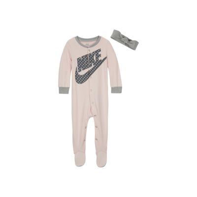 Conjunto de mono con pie y cinta para el pelo para bebé (de 0 a 9 meses) de Nike