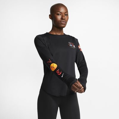 Prenda para la parte superior de running de manga larga para mujer Nike Sphere Element NYC