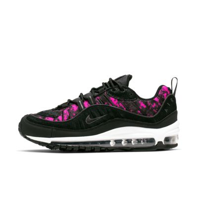 nike flyknit max womens shoes leather print black purple