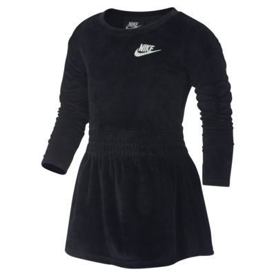 Nike Sportswear 幼童长袖丝绒连衣裙