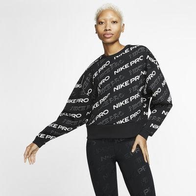Nike Pro-crewtrøje i fleece til kvinder