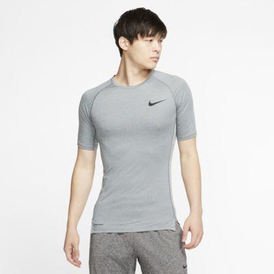 Nike Pro Herentop met korte mouwen en strakke pasvorm