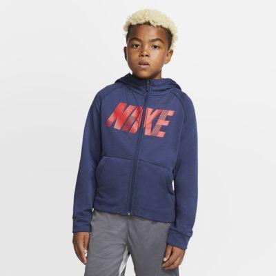 Nike Dri-FIT Older Kids' Full-Zip Graphic Training Hoodie