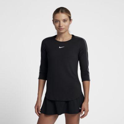 Top de tenis de manga 3/4 para mujer NikeCourt