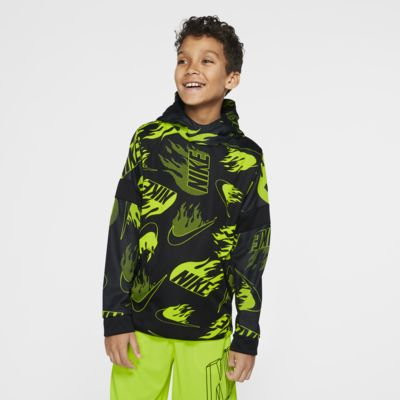 Nike Therma Big Kids' (Boys') Printed Training Pullover Hoodie