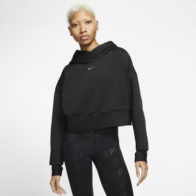 Sudadera con capucha sin cierre de tejido Fleece para mujer Nike Pro