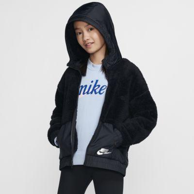 Nike Sportswear Sherpa 大童(女孩)夹克