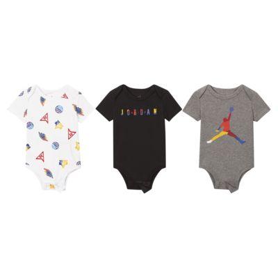 Jordan婴童短袖连体衣(3 件)