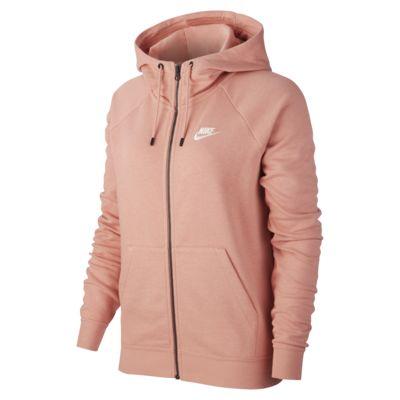 Felpa in fleece con cappuccio e zip a tutta lunghezza Nike Sportswear Essential - Donna