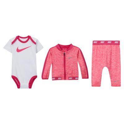 Nike Sport Essentials Baby (0-6M) Bodysuit, Jacket and Pants Set