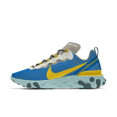 Chaussure personnalisable Nike React 55 Premium By You pour Homme ...