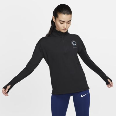 Prenda para la parte superior de running de medio cierre para mujer Nike Element Chicago finisher