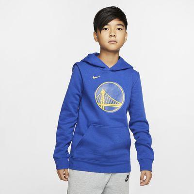 Golden State Warriors Logo Older Kids' Nike NBA Pullover Hoodie