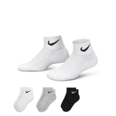 Nike Performance Cushion Quarter Older Kids' Socks (3 Pair)