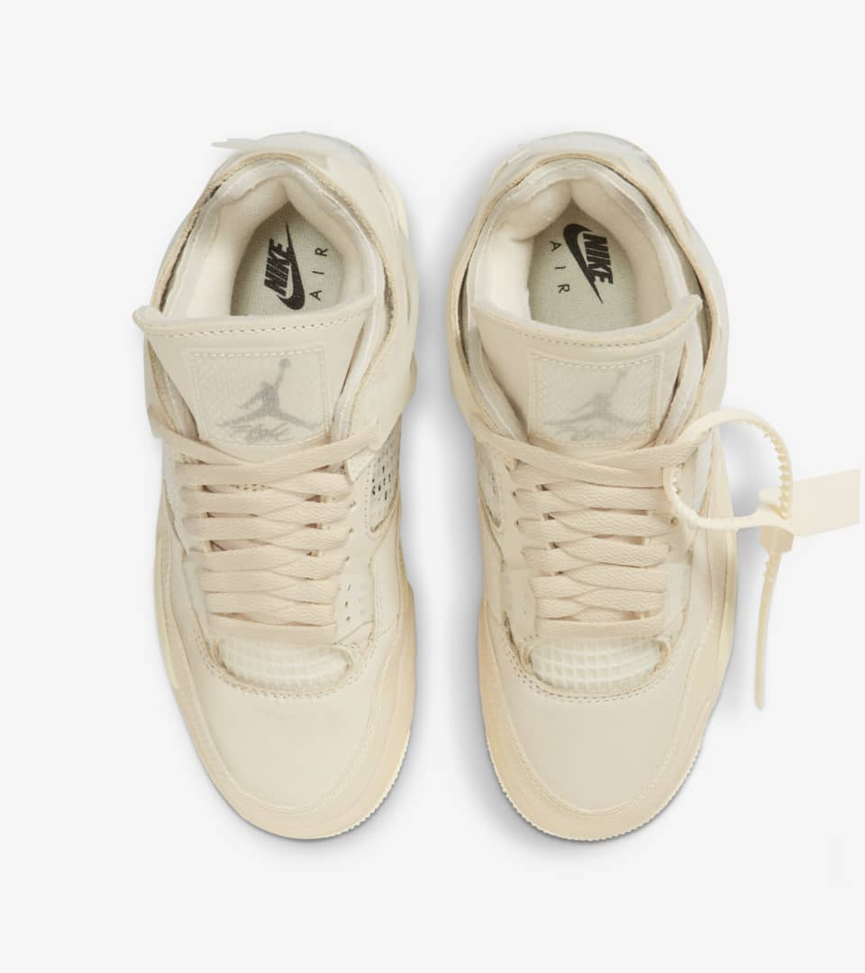 Women's Air Jordan 4 x Off-White™️ 'Sail' Release Date. Nike SNKRS MY