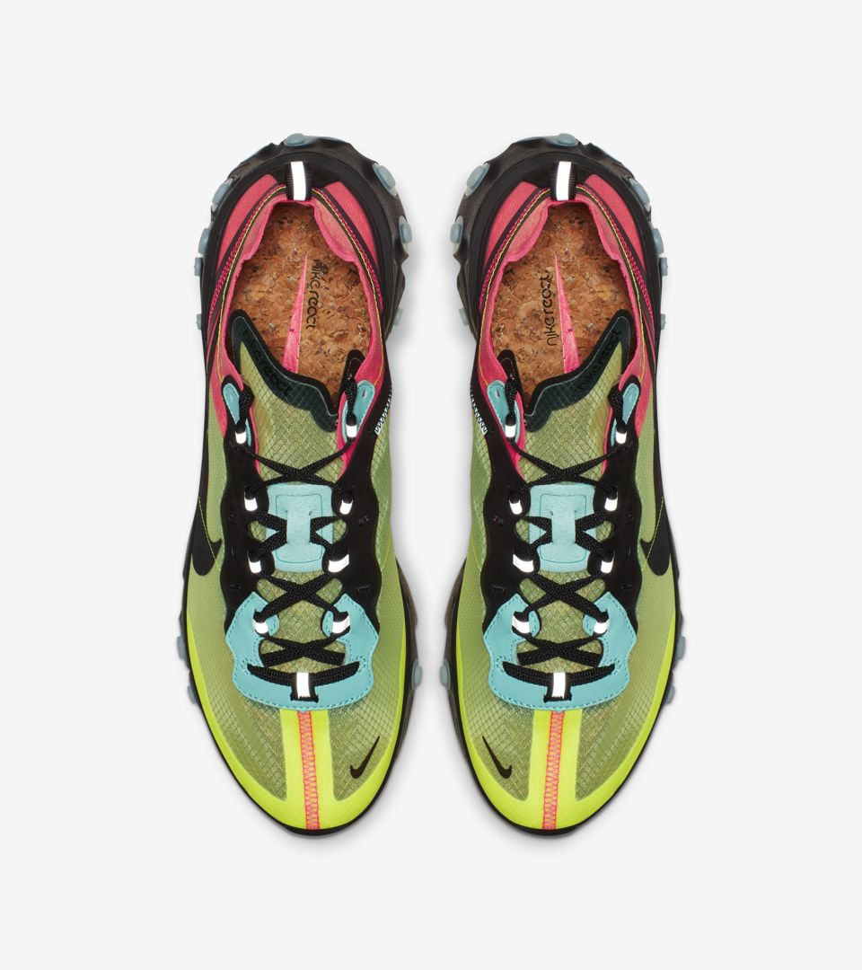 Nike React Element 87 'Volt & Racer Pink & Aurora' Release Date ...