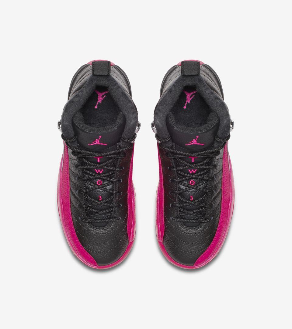 Girls' Air Jordan 12 Retro 'Black & Deadly Pink' Release Date ...