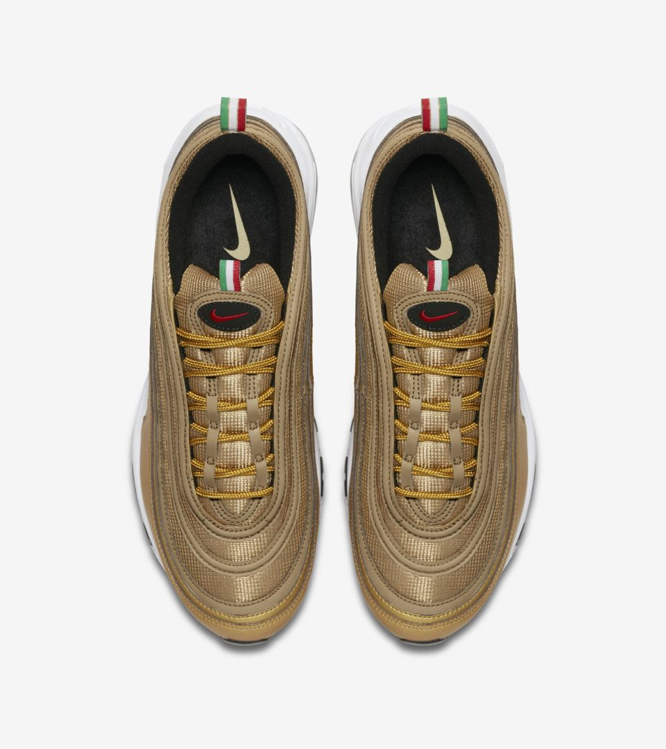 Nike Air Max 97 IT 'Metallic Gold & Varsity Red' Release Date ...