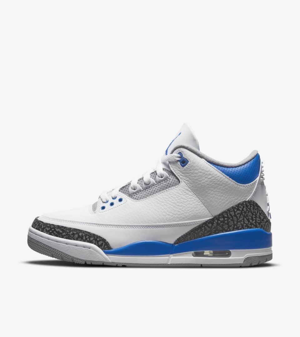 Air Jordan 3 Retro 'Racer Blue' Release Date. Nike SNKRS ID