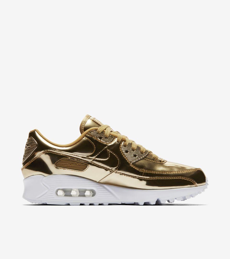 Women's Air Max 90 'Metallic Gold' Release Date. Nike SNKRS ZA