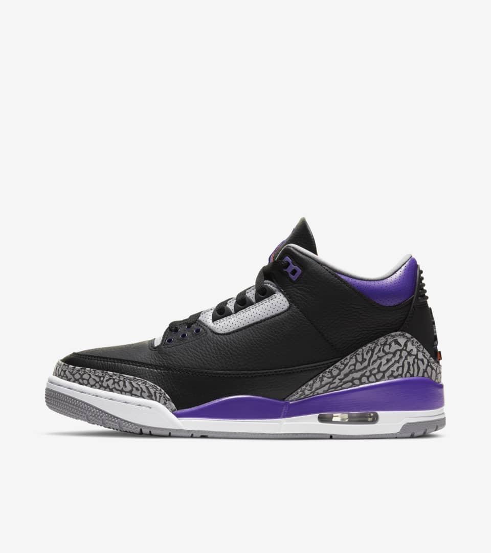 Air Jordan 3 'Court Purple' Release