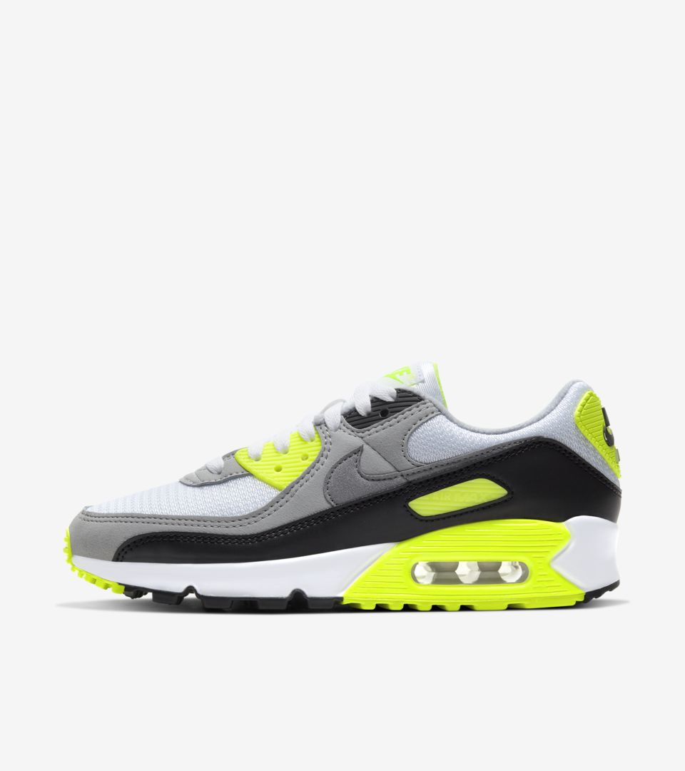 Women's Air Max 90 'Volt/Particle Grey' Release Date. Nike SNKRS PH