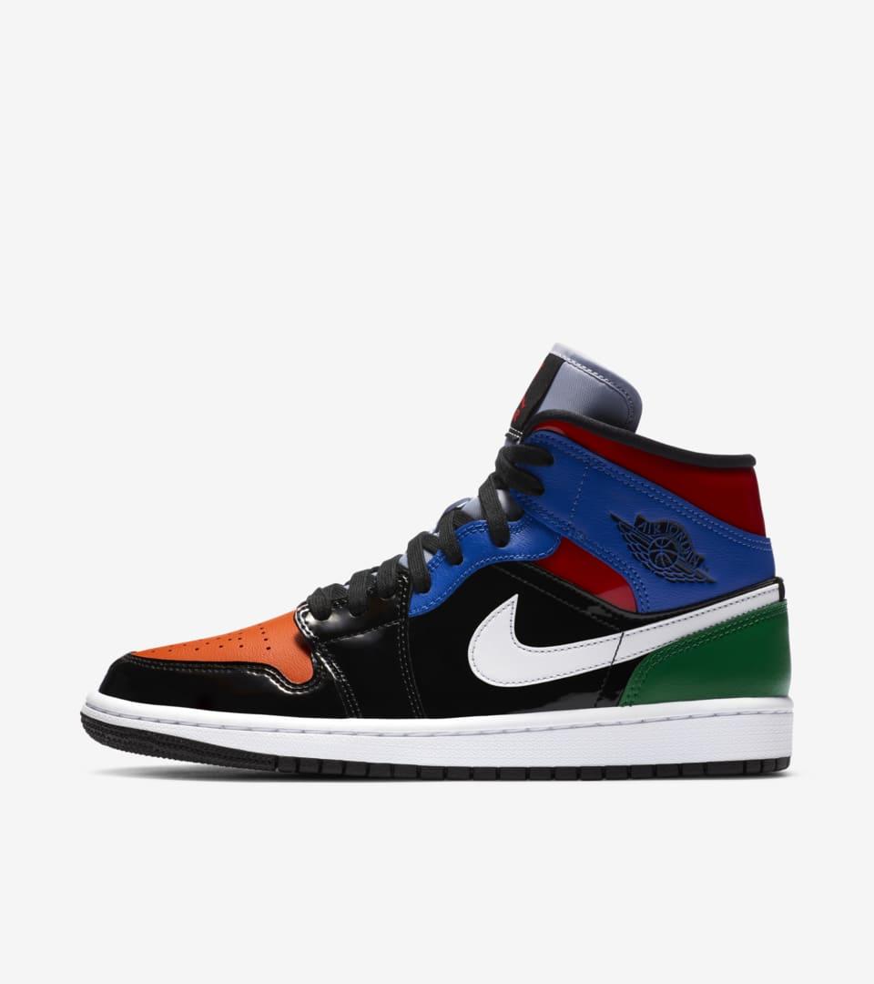 Women's Air Jordan 1 Mid 'Patent Blend' Release Date. Nike SNKRS IN