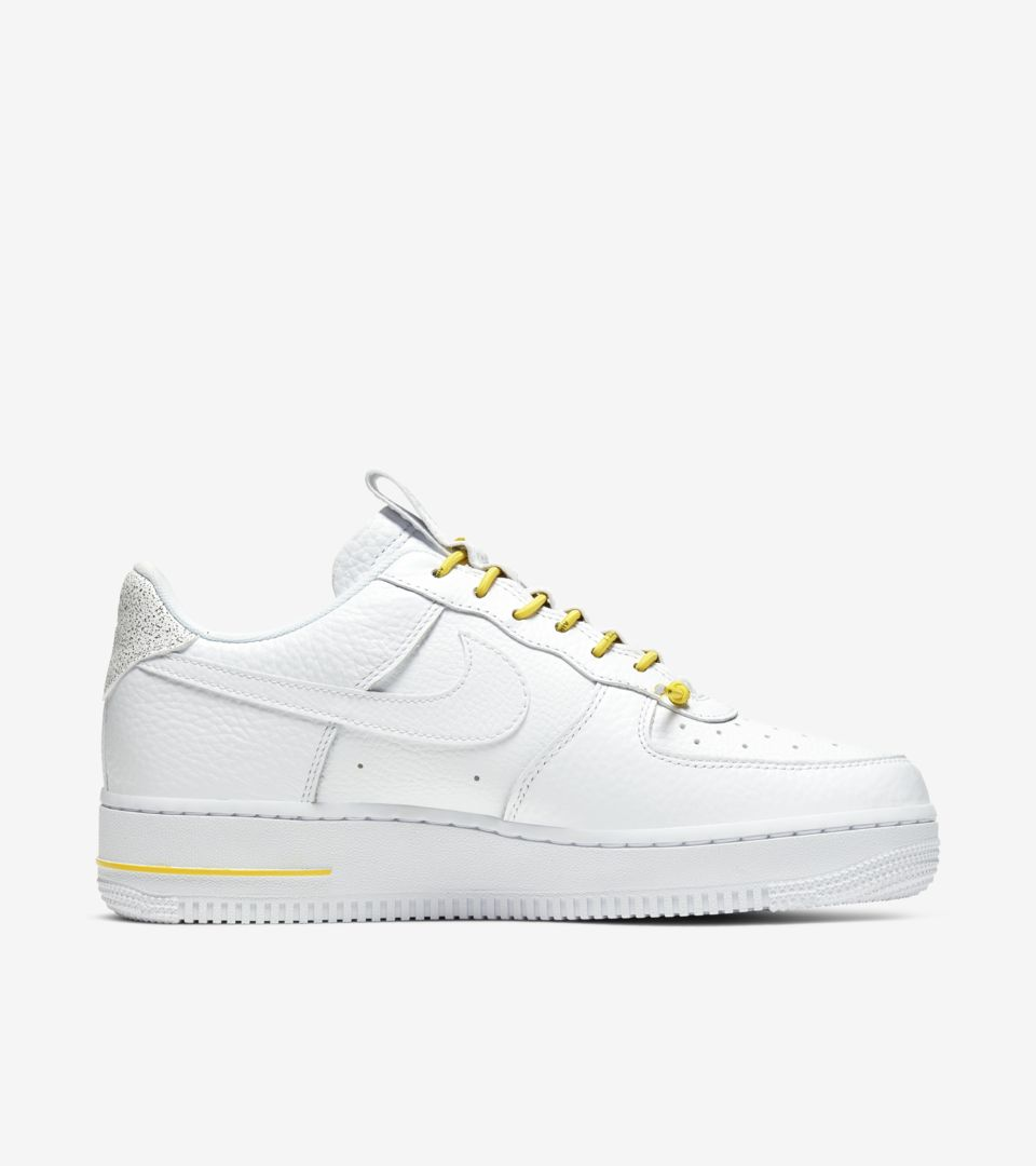 Women's Air Force 1 Lux 'White/Chrome Yellow'. Nike SNKRS ID