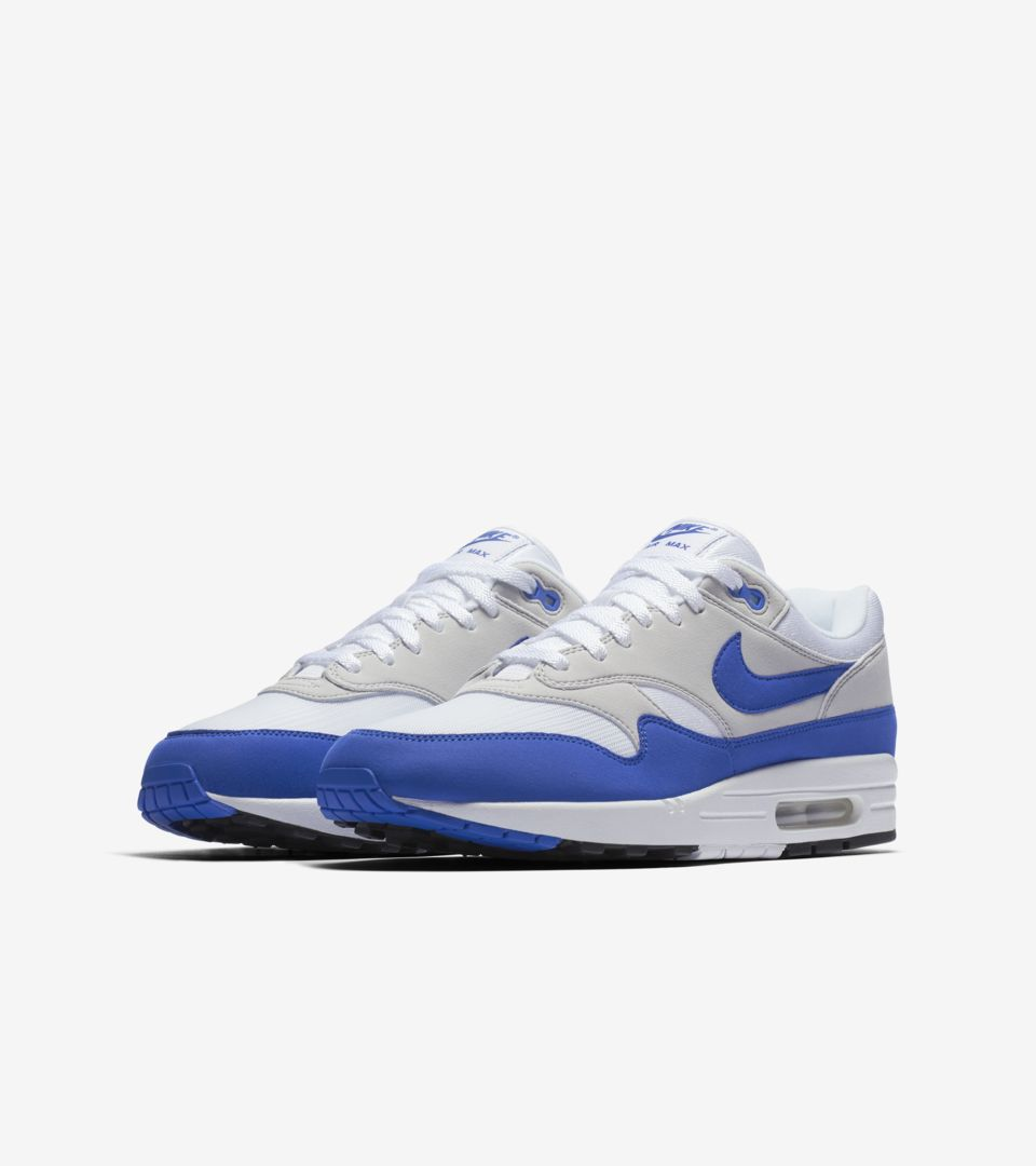 Nike Air Max 1 Anniversary 'White & Neutral Grey & Game Royal' Release Date