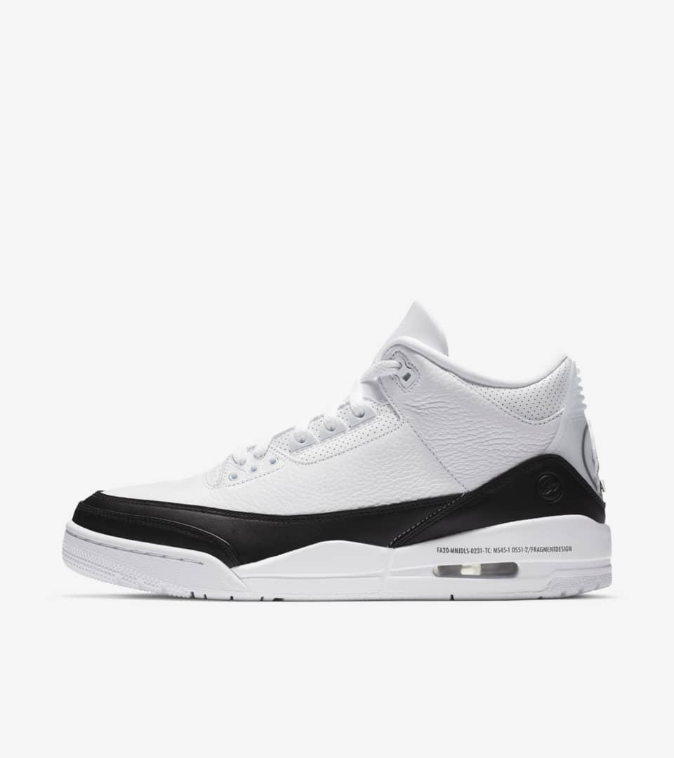 Air Jordan 3 x Fragment 'White' Release