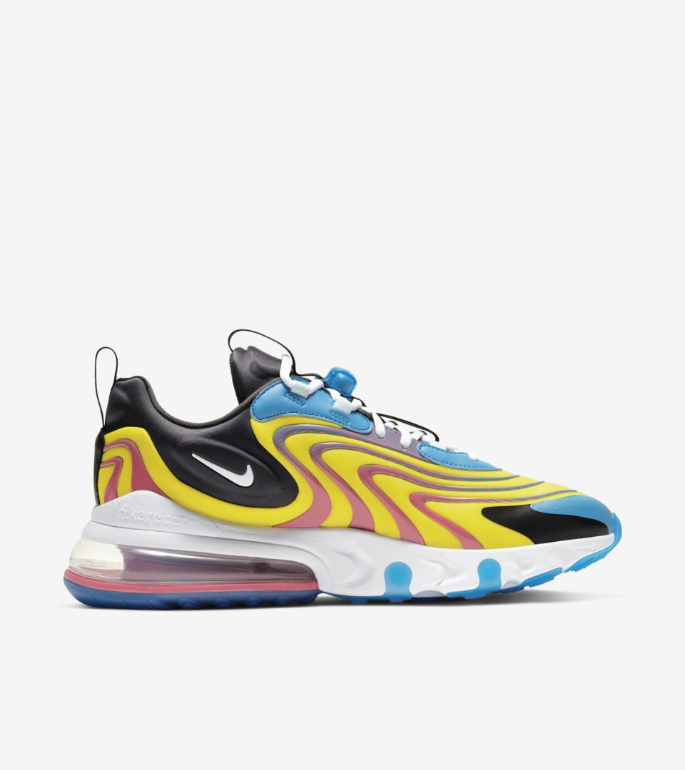 Air Max 270 React ENG 'Laser Blue/White' Release Date. Nike SNKRS ID