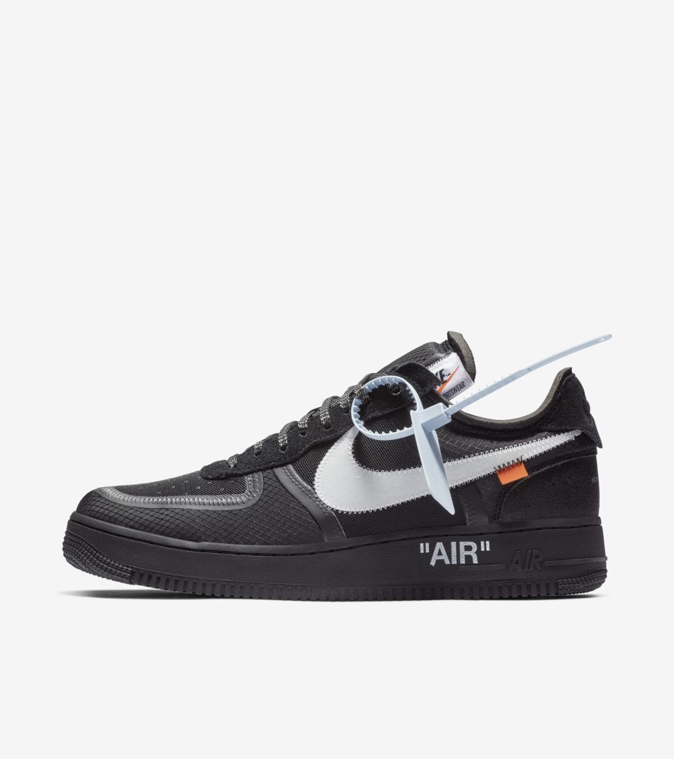 The 10: Nike Air Force 1 Low 'Black, Cone & White' Release ...
